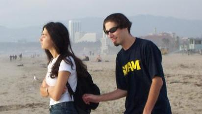 Юрас со своей сестрой